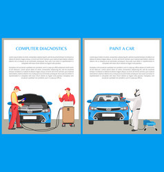 Paint car and diagnostics vector