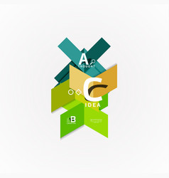 paper infographic banner template with a b c vector image