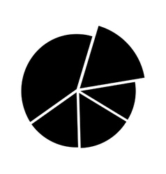 pie chart icon image vector image vector image