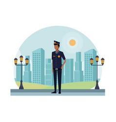 Police officer worker avatar vector