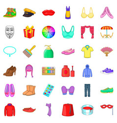 Present icons set cartoon style vector