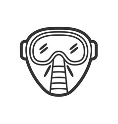 Protection facial mask flat paintball vector