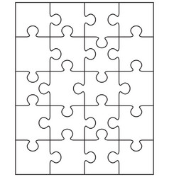 puzzle with separate pieces vector image