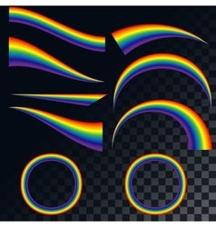 Rainbows icons set EPS 10 vector image