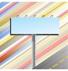 Road banner over speedy road vector