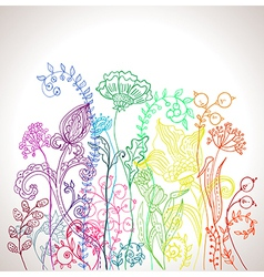 Romantic colorful flower background vector