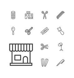 Salon icons vector