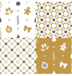 Set patterns with decorations vector