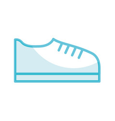shadow shoe cartoon vector image
