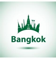 silhouette of Bangkok Thailand vector image