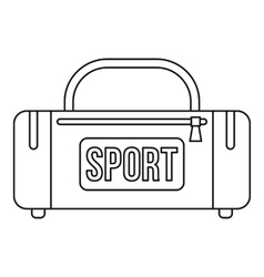 Sports bag icon outline style vector