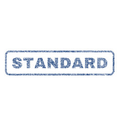 Standard textile stamp vector