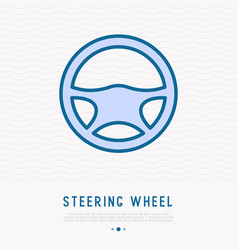 steering wheel thin line icon vector image