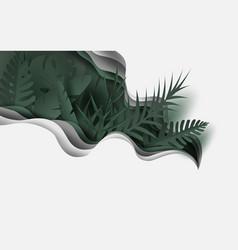 Summertime with palm leaf backgroundjungle leaves vector