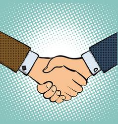 two men shake hands vector image