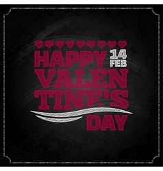 Valentines day chalkboard design background vector