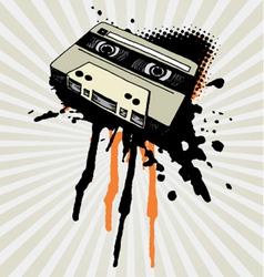 vintage tape splash vector image