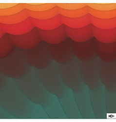 Wavy Grid Background Mosaic 3d Abstract vector image