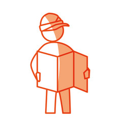 Worker construction silhouette vector