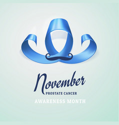world prostate cancer day concept prostate cancer vector image