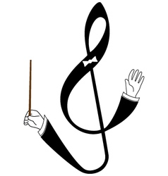 Abstract treble clef as conductor vector image vector image