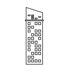 building architecture skyscraper outline vector image vector image