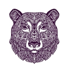 Ethnic ornamented bear Hand drawn vector image vector image