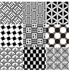 monochrome seamless geometric pattern vector image