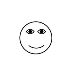 smile face emoticon vector image vector image