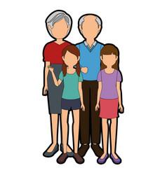 Avatar family icon vector