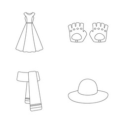 dress clothes fashion style and other clothes vector image