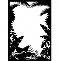 forest silhouette vector image vector image