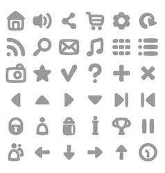 game user interface icons kit vector image