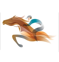 Jockey on the horse vector image vector image