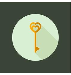 Key circle icon flat design vector