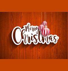 merry christmas hand lettering with vector image vector image