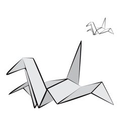 Origami bird vector image
