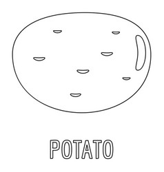 potato icon outline style vector image vector image