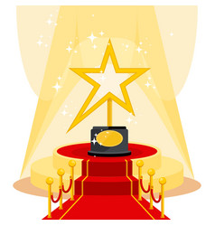 award on red carpet vector image vector image