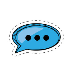 Cartoon bubble speech communication talk vector