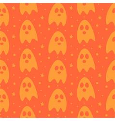 Cartoon halloween ghosts seamless pattern vector image vector image