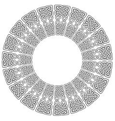 celtic mandala on white background vector image