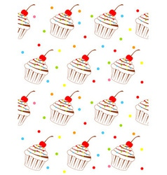 Cupcake background pattern vector
