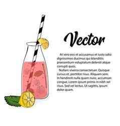 hand drawn pink lemonade vector image vector image