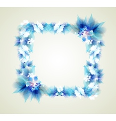 Abstract flowers on a light background vector image