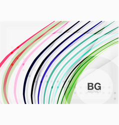 colorful stripes on grey vector image