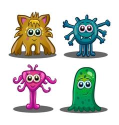 Set of cute cartoon monsters vector image vector image