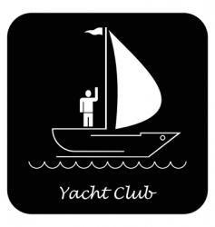 yacht sailboat vector image