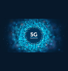 5g abstract web banner fifth generation vector image