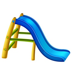 A slide at the playground vector